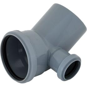 Отвод d 110 мм 45 градусов с левым выходом d 50 мм