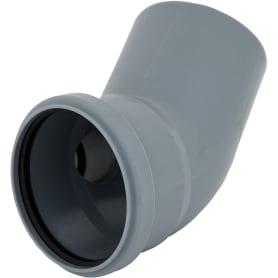 Отвод d 110 мм 45 градусов с правым выходом d 50 мм