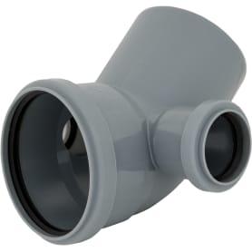 Отвод d 110 мм 45 градусов с двумя выходами d 50 мм