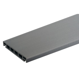Террасная доска ДПК ITP цвет Серый 3000х162х26 мм 0.486 м²