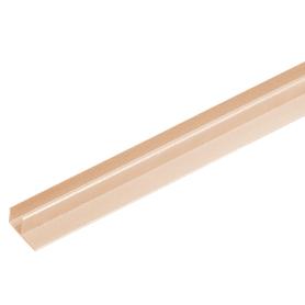 F-профиль для террасной доски ITP 3000х63.5х30 мм ДПК цвет дуб беленый