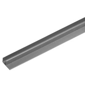 F-профиль для террасной доск ITP 3000х63.5х30 мм ДПК цвет серый