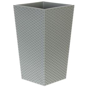 Кашпо цветочное «Ротанг», D26, 7, 6л. пластик, Серый / Серебристый