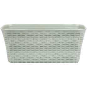 Ящик балконный «Ротанг» 40х18х16 см, 11 л, пластик, Серый / Серебристый