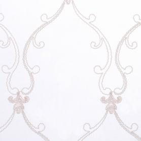 Тюль с вышивкой «Корд» сетка 290 см цвет розовый