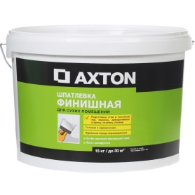 Шпатлёвка финишная Axton для сухих помещений 15 кг