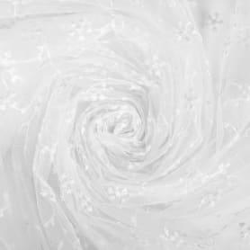 Тюль «Ветка» вышивка 285 см цвет белый