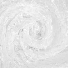 Тюль «Сетка» 280 см цвет белый