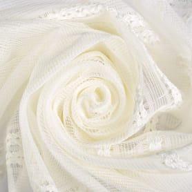 Тюль «Сетка» 280 см цвет молочный