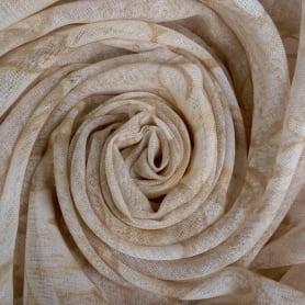 Тюль «Листья» 280 см цвет бежевый