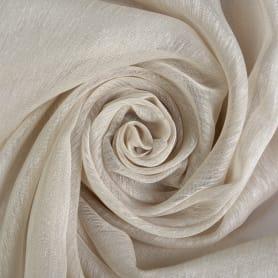 Тюль однотонная «Кристаллон» 280 см цвет бежевый