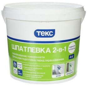 Шпатлёвка Текс 2в1 4 кг
