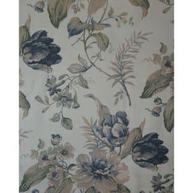 Тюль «Цветы» вуаль 280 см цвет синий