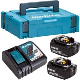 Набор 2 аккумулятора и зарядное устройство Makita, 18 В Li-ion, 2x4 Ач