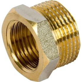 Футорка наружная-внутренняя резьба 3/4х1/2 никелерованная латунь