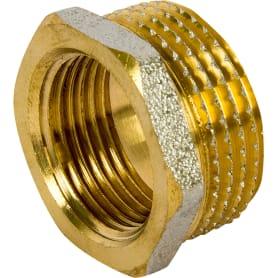 Футорка наружная-внутренняя резьба 1х3/4 никелерованная латунь
