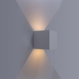 Настенный светильник уличный светодиодное «RulKub», 6 Вт, IP54, цвет белый металлик