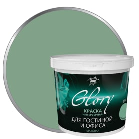 Краска для гостиной и офиса цвет зеленая мята 0.9 л