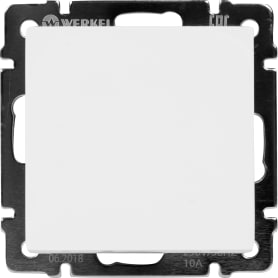 Выключатель Werkel WL01-SW-1G-C, 1 клавиша, цвет белый