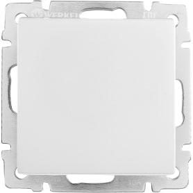 Выключатель Werkel WL06-SW-1G-C, 1 клавиша, цвет серебристый