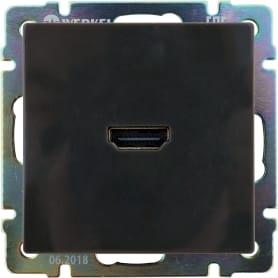 Розетка HDMI встраиваемая Werkel WL07-60-11, цвет коричневый