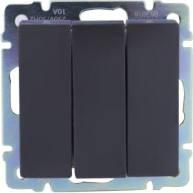 Выключатель WL07-SW-3G 3 клавиши цвет коричневый