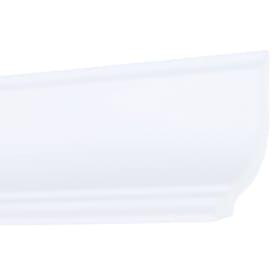 Плинтус потолочный Inspire экструдированный полистирол белый GT1 8.5х6х200 см