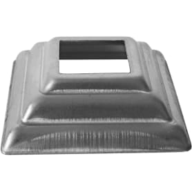 Крышка нижняя декоративная под трубу 20x20 мм