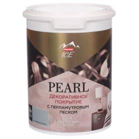 Декоративное покрытие Parade Ice Pearl с эффектом перламутрового песка цвет горный хрусталь 0.9 л