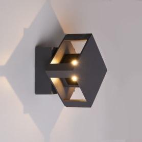 """Светильник фасадный светодиодный Elektrostandard """"Techno"""" 1606, 12 Вт цвет чёрный"""
