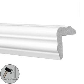 Плинтус угловой полистирол ударопрочный Decomaster D003 белый 3х4.2х200 см