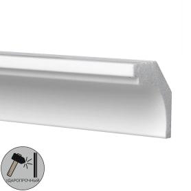 Плинтус потолочный полистирол ударопрочный Decomaster D115 белый 3х3х200 см