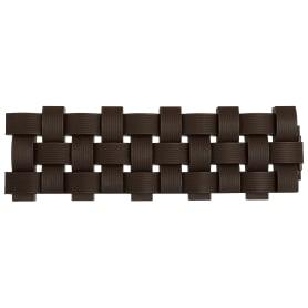 Ограждение «Плетенка» цвет коричневый 2.4 м