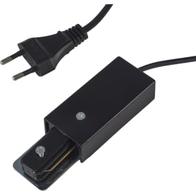 Коннектор для подключения трекового шинопровода к сети в розетку, цвет черный