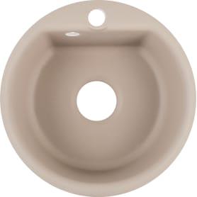 Мойка врезная Smart GF-SM 435 диаметр 43,2 см, глубина 17 см, мрамор, цвет песочный
