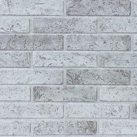 Панель ПВХ Кирпич серый 962х499x3 мм, 0.48 м²