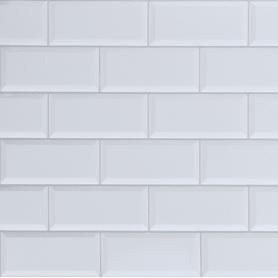 Панель ПВХ Плитка белая 966х484x3 мм, 0.47 м²