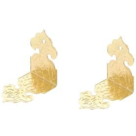 Уголок мебельный декоративный 25х25х17 мм, цвет золото, 2 шт.