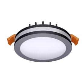 Светильник точечный встраиваемый круглый Albina 80 мм, 3.3 м², тёплый белый свет, цвет чёрный