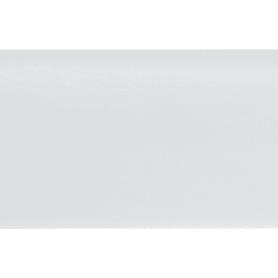 Плинтус напольный ударопрочный Decomaster А037 80х13х2000 мм цвет белый