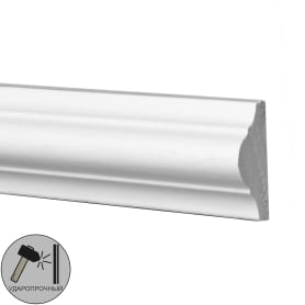 Молдинг настенный  Decomaster 97012 полиуретан 25х12х2000 мм цвет белый