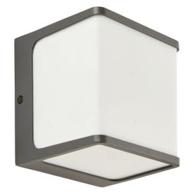 Светильник настенный уличный светодиодный Telin 12.5 Вт IP54, куб, цвет серый/белый