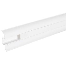 Плинтус напольный, 55 мм, 2.5 м, ПВХ, цвет белый