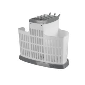 Органайзер для столовых приборов, цвет белый/серый