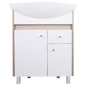 Тумба под раковину напольная АСБ-Мебель «Магнолия-2» 65 см цвет белый