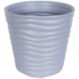 Кашпо цветочное «Дюна», D25, 8, 5л. пластик, Серый / Серебристый