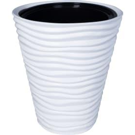Кашпо цветочное «Дюна», D38, 19, 5л. пластик, Белый