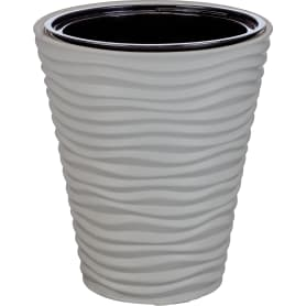 Кашпо цветочное «Дюна», D38, 19, 5л. пластик, Серый / Серебристый