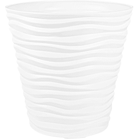 Кашпо цветочное «Дюна», D45., 50л. пластик, Белый