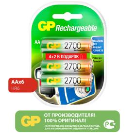 Аккумулятор GP Ni-Mh 270 AA HC 4/2, 6 шт.